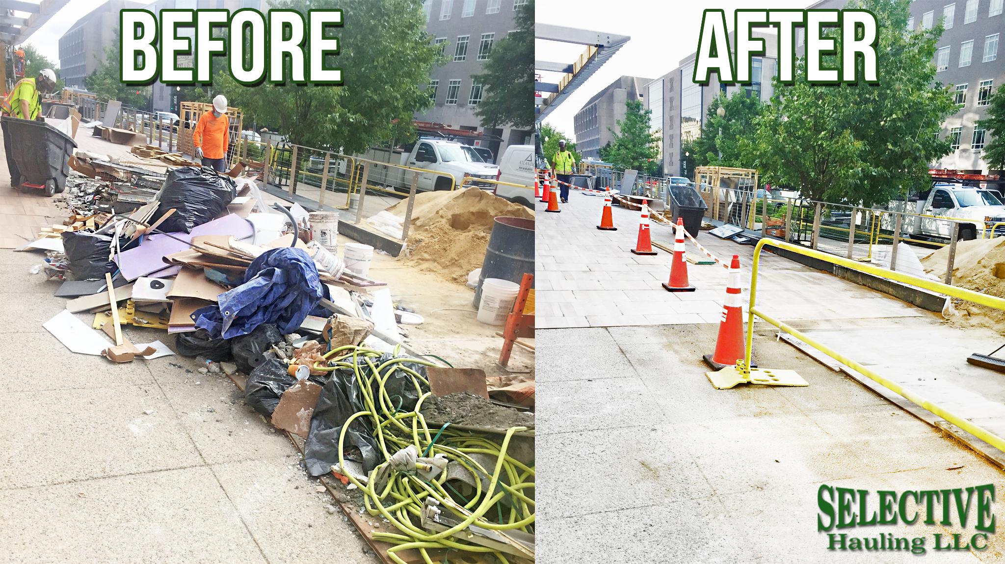 Construction debris removal service Arlington VA