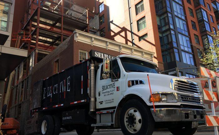 Arlington VA dump truck service - construction debris removal