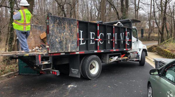 Dump truck construction debris removal dc