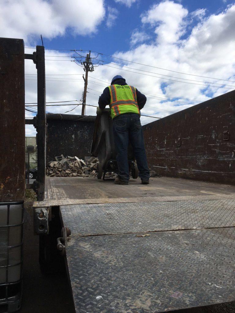 Construction debris hauling