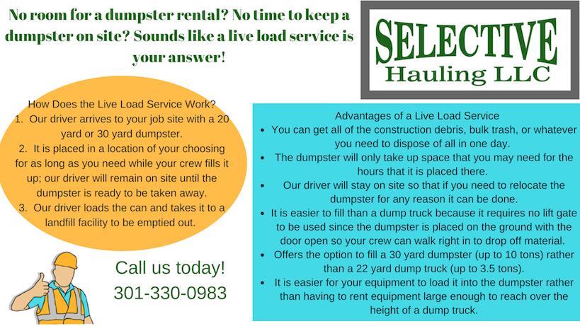 Live Load Dumpster Service