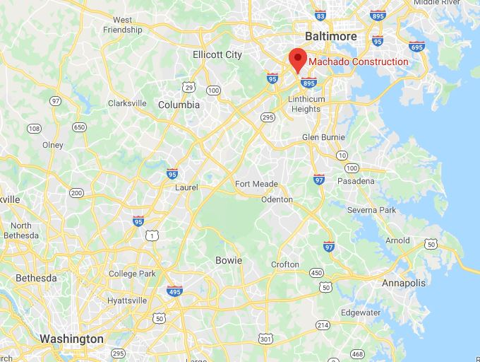 Machado Construction leed aggregates map - LEED Aggregate Recycling Facilities In The Washington D.C. And Maryland Area