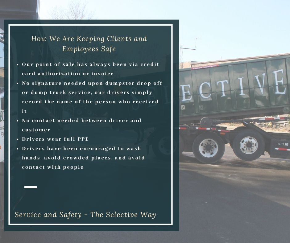 Selective Hauling Graphic - Non-Contact Dumpster and Dump Truck Service in the COVID-19 Crisis